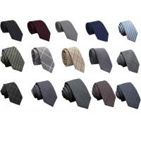 China Mens Casual striped Wool Neckties colorful OEM logo China factory cheap price for sale