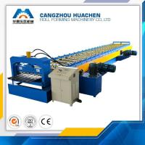 Best Metal Floor Deck Roll Forming Machine Capacity 8-10m/Min , 12 Month Warranty wholesale