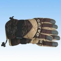 Wholesale Men's Nylon Brown Ski Gloves from china suppliers