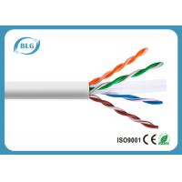 China Cat6 Ethernet LAN Cable 23AWG 24AWG CU CCA 4 Pairs 1000FT Networking Cables on sale