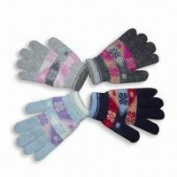 Wholesale Mixed Yarn Jacquard Magic Glove from china suppliers