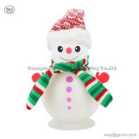 China Christmas USB 500ml Snowman Humidifier Home Aromatherapy Machine Air Purifier Atomizer White 7 Color Aroma Diffuser for sale