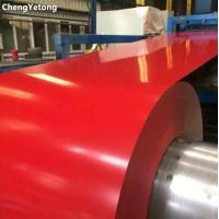 Wholesale PVDF Coating Pre Painted Steel Sheet Red Plain Color For Building Material from china suppliers