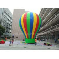 Best Customized 8m Advertisement Colorful Ground Balloon Inflatable With Banner Printing wholesale