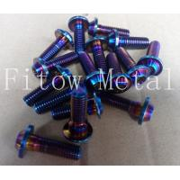 Wholesale Titanium Rainbow Anodized Tapered Screw with Washer from china suppliers