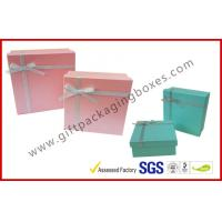 Yellow Cosmetic Packaging Gift Box with Ribbon , cardboard gift boxes for sale