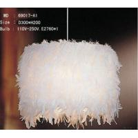 Wholesale White Goose Feather Pendant Light from china suppliers