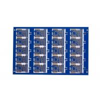 China Blue soldermask 8 Layer 1MM FR4 Immersion gold PCB for  power supplies communications on sale