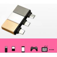 Wholesale Micro USB to USB female gold aluminum alloy adapter support  OTG functions from china suppliers