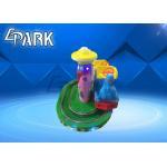 China Amusement Park Rides / Zoo Steam Train Track Ride Fiberglass Material for sale