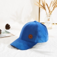 Wholesale Custom Blue 58cm 6 Panel Baseball Caps Velcro Back Closure from china suppliers