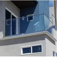 China New design aluminium U channel frameless glass railing for balcony on sale
