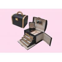 Wholesale Promotional Leather Wrapped Wooden Gift Boxes For Jewelry OEM from china suppliers