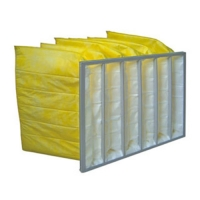 Wholesale Yellow Color Chemical Resistance F9 Aluminum Frame Bag Filter / Pocket Air Filter from china suppliers