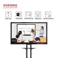 China HUSHIDA 55Inch Conference Room Touch Screen Lcd Monitor Smart Electronic Writing White Board 1920*1080P for sale