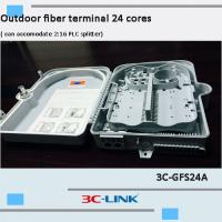 Poled Mounted Fiber Terminal Box , ABS / PC Material Cable FTTH Termination Box For CATV Networks