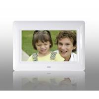 Quality White 7 Inch TFT High Resolution Digital Picture Frame With USB 2.0 Interface for sale