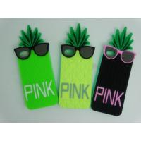 Wholesale Pineapple Silicone Cell Phone Case Dust-proof / Smart Phone Covers OEM from china suppliers