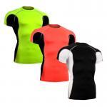 China Sun Protection Custom Rash Guard , Short Sleeve Swim Shirt Without Heavy Ink for sale
