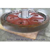 Carbon Steel Helical Gears Construction Machinery Big Straight Tooth Gear