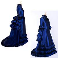 Wholesale Medieval Dress Wholesale XXS to XXXL Custom Made Blue Medieval Renaissance Fancy Victorian Gothic Dress Cosplay from china suppliers