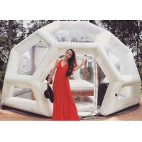 Wholesale Transparent Soccer Shape 4m Inflatable Jungle Bubble Tent from china suppliers