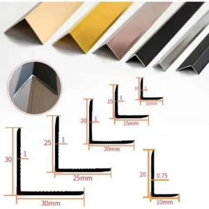 Wholesale Polishing 0.8mm Aluminium Floor Trim Profiles L Angle Shape from china suppliers