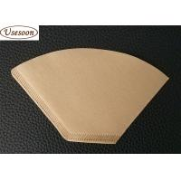 China Hand drip coffee paper filter No 2 size  100pcs packed  Natural and white color for sale