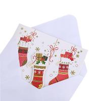 China Factory Directly Merry Christmas Greeting Card with Envelope Packed in PVC / PET Box for sale