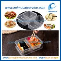 Wholesale disposable 2 compartment plastic thin wall food container mould with 650ml from china suppliers