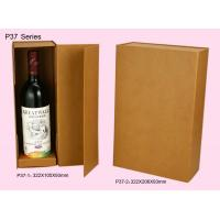 Wholesale Brown Foldable Paper Wine Packaging Boxes For Single / Double Bottle from china suppliers