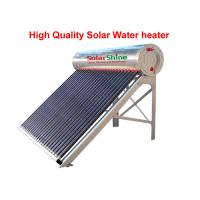 Three Target All Glass Tube Solar Water Heater 58 X 1800 Mm Anti Corrosive for sale
