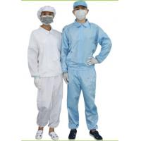 Wholesale ESD Cleanroom Consumables / Cleanroom Coverall White & Blue Color Optional from china suppliers