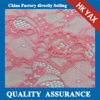 Wholesale 2014 china factory cheap hot selling beautiful pink elastic lace fabric/stretch lace fabric in little flower pattern from china suppliers
