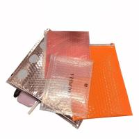 Wholesale Pink cosmetic item packaging ziplock air bubble bag zip top bubble bag from china suppliers