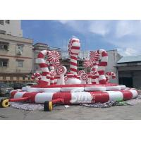 Wholesale Giant Christmas Candy Cane Inflatable Amusement Park Bouncer For Kids And Adults Party Fun from china suppliers