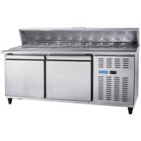 Wholesale Pizza Refrigeration Workbench Under Counter Freezer Water Bar Milk Tea Shop Equipment Full Set Freezer from china suppliers
