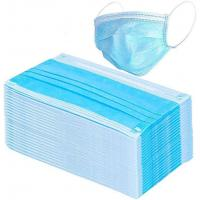 Wholesale Blue Color 3 Ply Non Woven Face Mask Earloop Breathable Eco Friendly from china suppliers