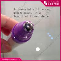 Wholesale SRS AY-10ml new design ailess pressed 6 flowers outer roll-on bottle for eye cream from china suppliers