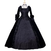 Wholesale Medieval Dress Wholesale XXS to XXXL Cosplaydiy Black Gothic Renaissance Medieval Evening Gown Ball Dress Cosplay from china suppliers