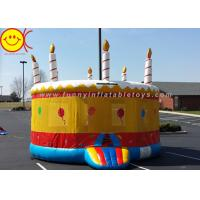 Best 0.55mm PVC Birthday Cake Inflatable Bounce House Jumper Combo Bouncer For Kids Play wholesale