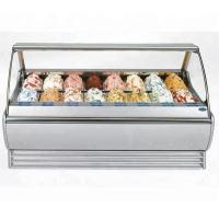 480L Stainess Steel Ice Cream Showcase Freezer With Digital Temperature Controller 1568mm Length for sale