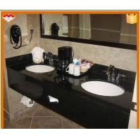 Wholesale Rectangle Natural Stone Countertops , Black Galaxy Granite Countertop 120-200cm Length from china suppliers