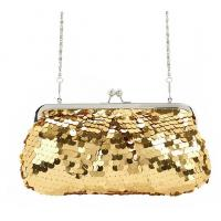 Best 2015 hot selling Golden shinny evening bag in high quality sequin material wholesale