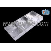 Quality Electrical Metallic Ceiling Outlet Box Covers 1 + 1 + 1 Gang Conduit for sale