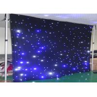 Wholesale Stage Wedding Star LED Curtain Lights Warm White Drop Velvet Easy To Set Up from china suppliers