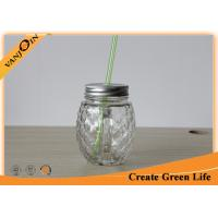 Wholesale Professional 16 oz Pineapple Shape Clear Mason Glass Drinking Jars With Handle from china suppliers