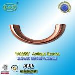 Best Ref No H005S dimension 19*7cm Zamak Metal Coffin Handles color antique bronze moon shape wholesale