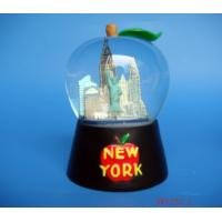 Wholesale snow dome,snowball,souvenir,Apple shape water globe with building figurine from china suppliers