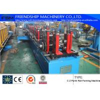 Wholesale PLC Control Roofing Sheet C Z Purlin Roll Forming Machine 10-15m/Min from china suppliers
